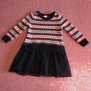 Baby Gap Sweater Dress Tulle Girls 18-24 Months